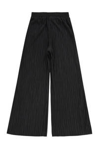 Raizzed high waist wide leg palazzo broek SAMIZE met krijtstreep zwart, Zwart