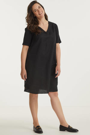 semi-transparante jurk Jarissa zwart