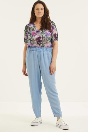 straight fit broek Jaidey lichtblauw