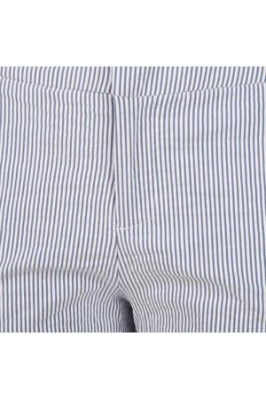 gestreepte straight fit pantalon blauw/wit