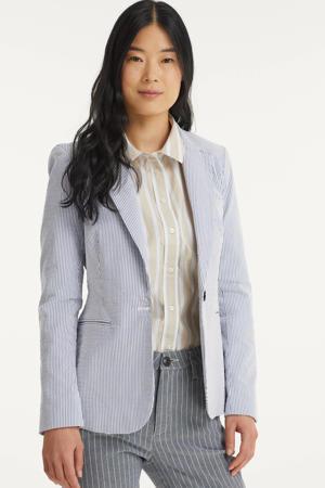 gestreepte blazer blauw/wit