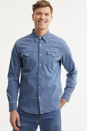 regular fit denim overhemd Barstow Western blauw