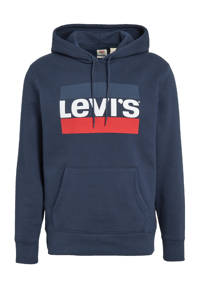 Levi's hoodie met logo donkerblauw, Donkerblauw