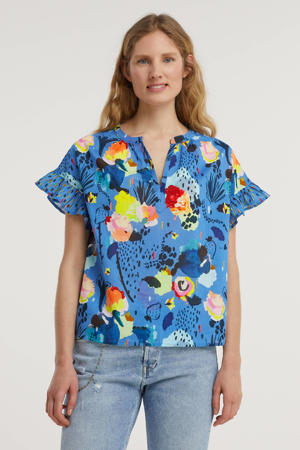 top TOP - Delicious Mess Blue - 34 met all over print blauw