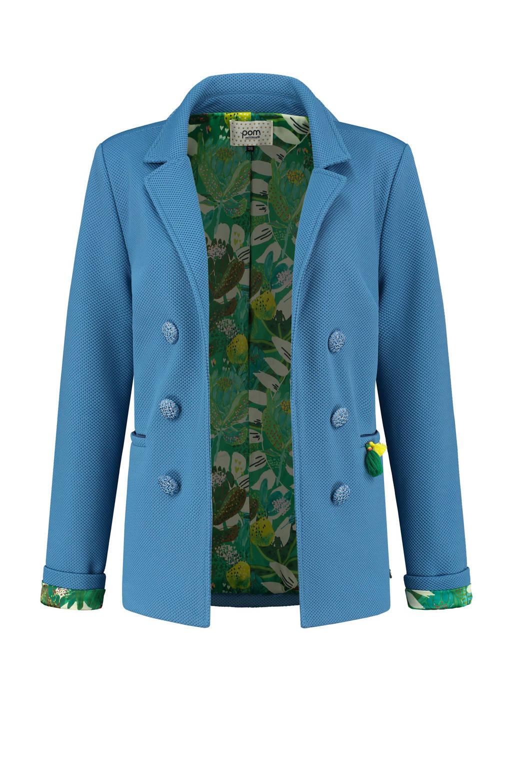POM Amsterdam blazer BLAZER - Sky Blue Shimmer - 38 blue