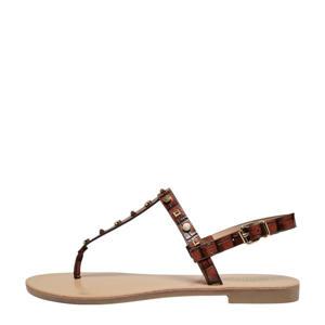 ONLMELLY-3  sandalen met studs bruin