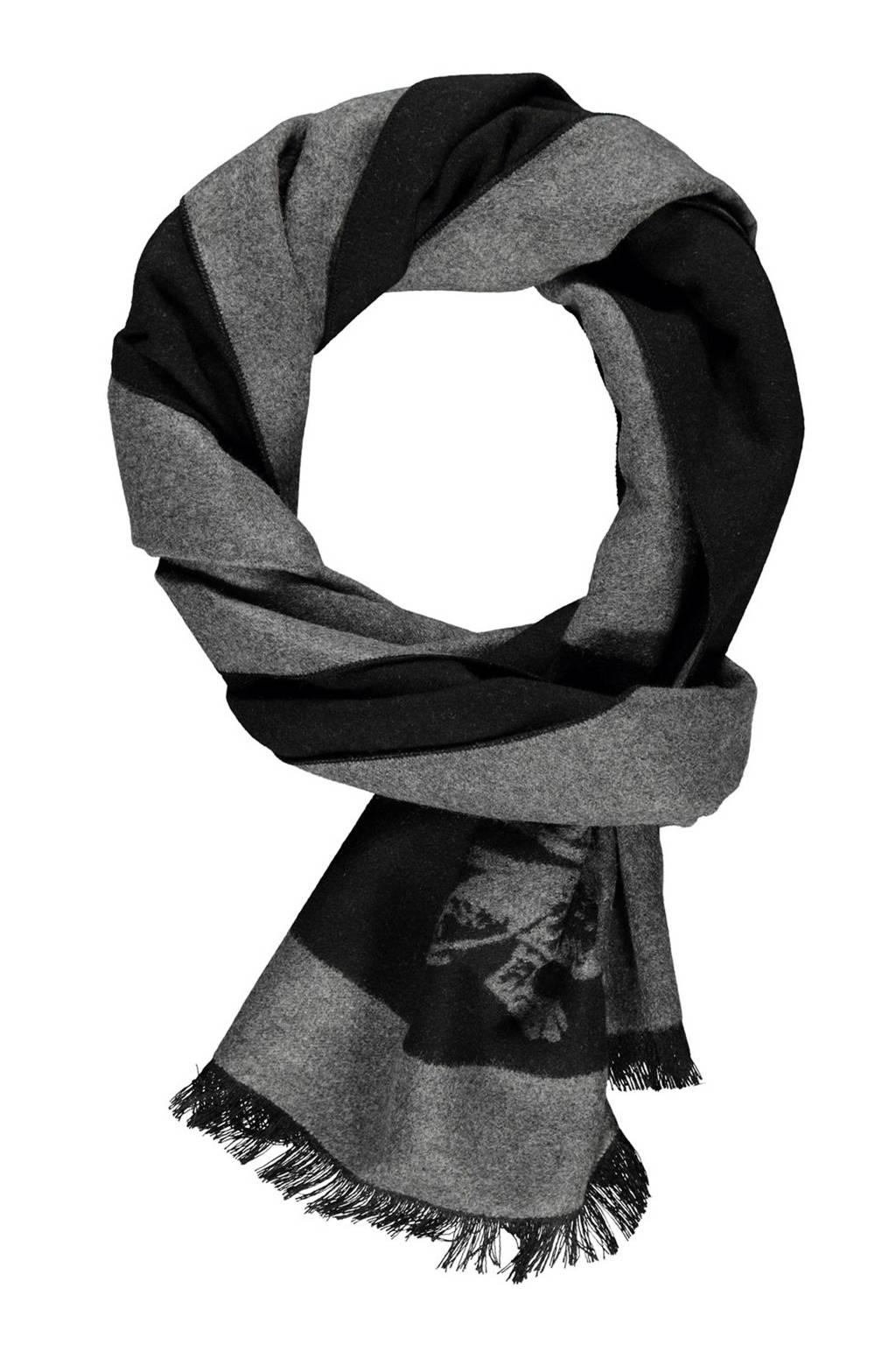 LERROS sjaal grijs/zwart, Grijs/zwart
