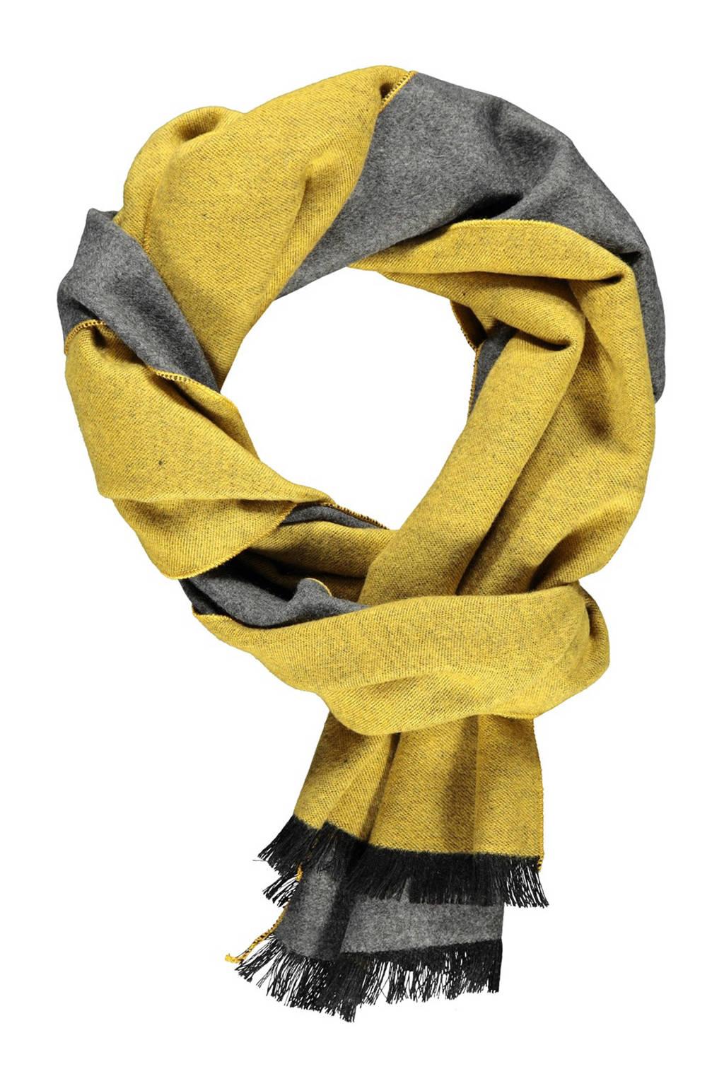 LERROS sjaal geel/grijs, Geel/grijs