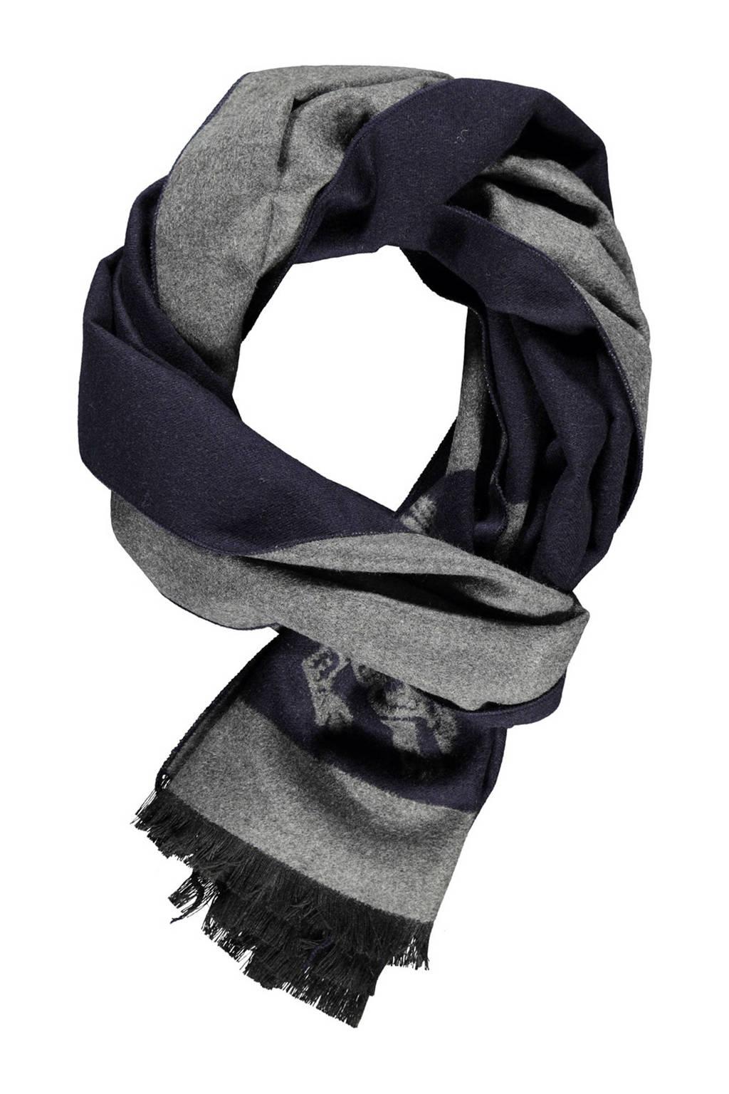 LERROS sjaal grijs/donkerblauw, Grijs/donkerblauw