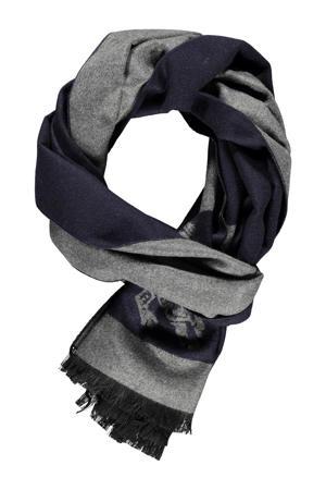 sjaal grijs/donkerblauw