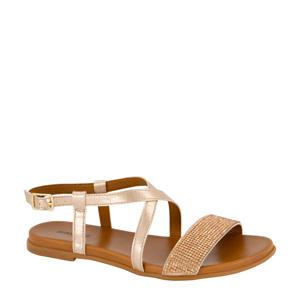 sandalen met strass steentjes roségoud