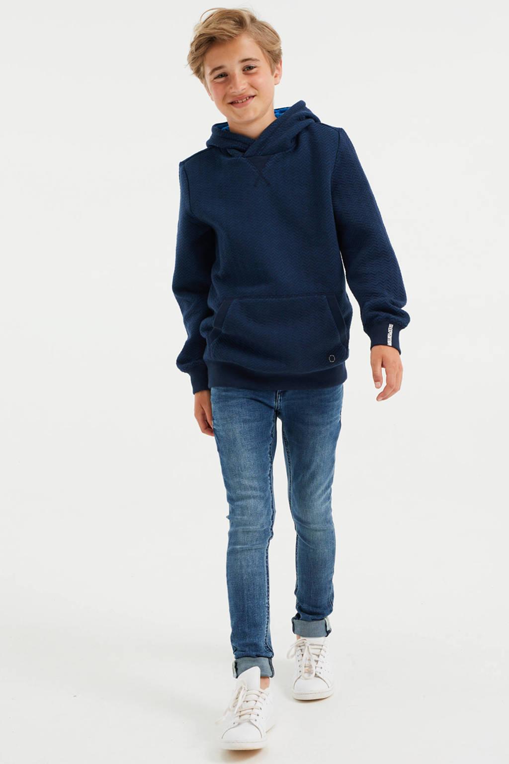 WE Fashion hoodie donkerblauw, Donkerblauw