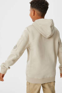 C&A Skate Nation hoodie met printopdruk beige/zwart, Beige/zwart