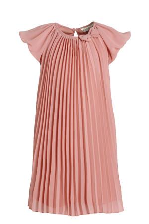 semi-transparante A-lijn jurk zalm