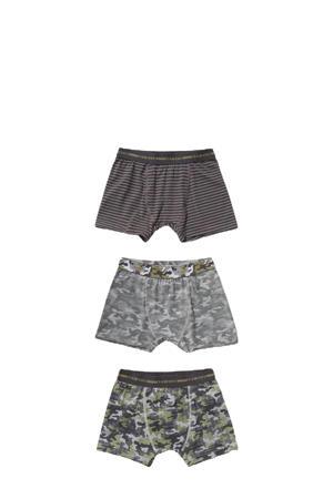 boxershort - set van 3 grijs