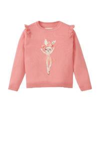 C&A Happy girls Club trui van biologisch katoen roze, Roze