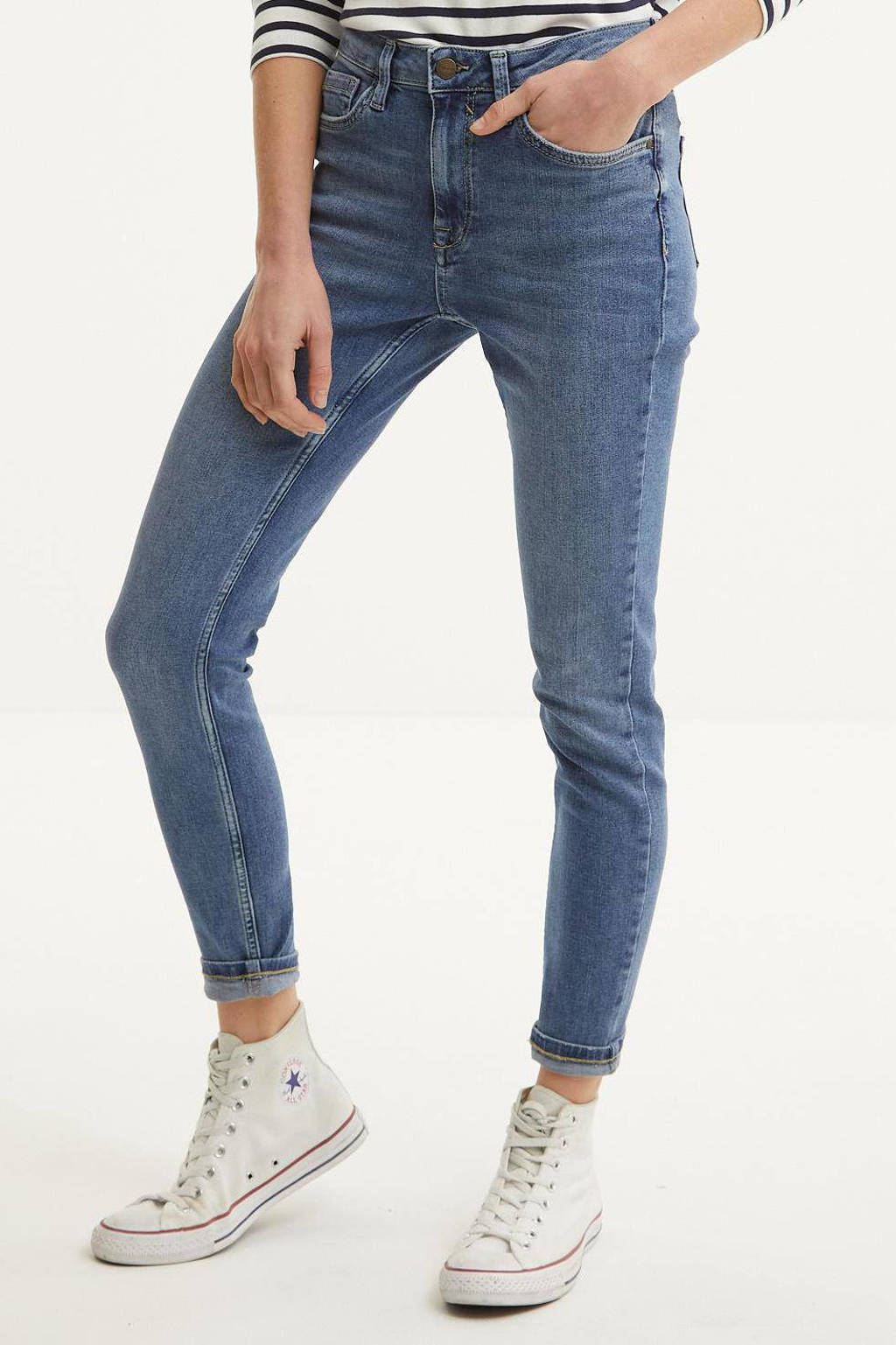 C&A The Denim high waist skinny jeans blauw, Blauw