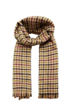 geruite sjaal groen/beige