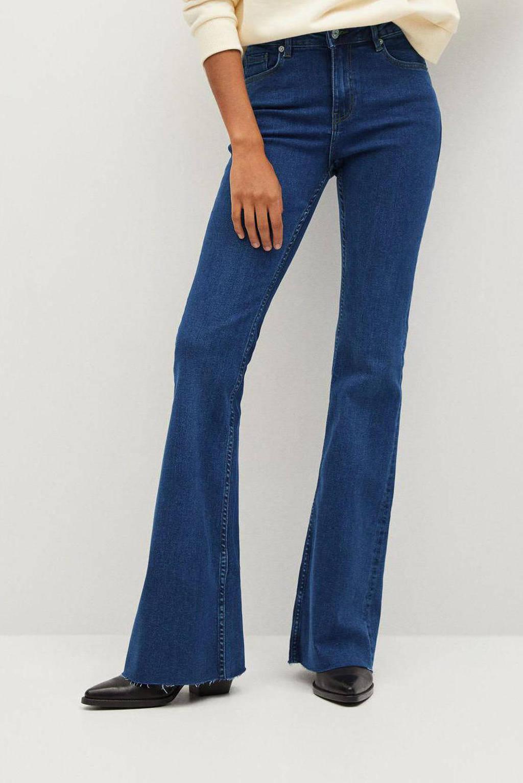 Mango flared jeans dark denim, Dark denim