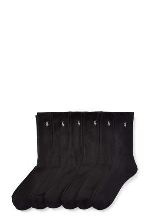 sokken Crew - set van 6 zwart