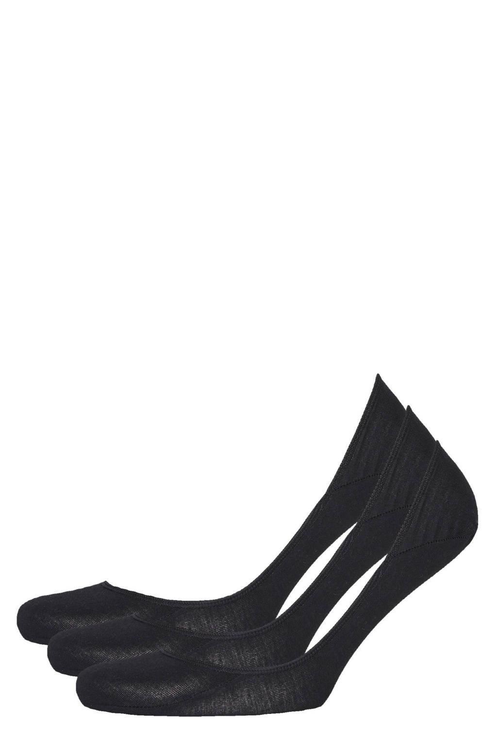 Ralph Lauren no-show sneakersokken - set van 3 zwart, Zwart
