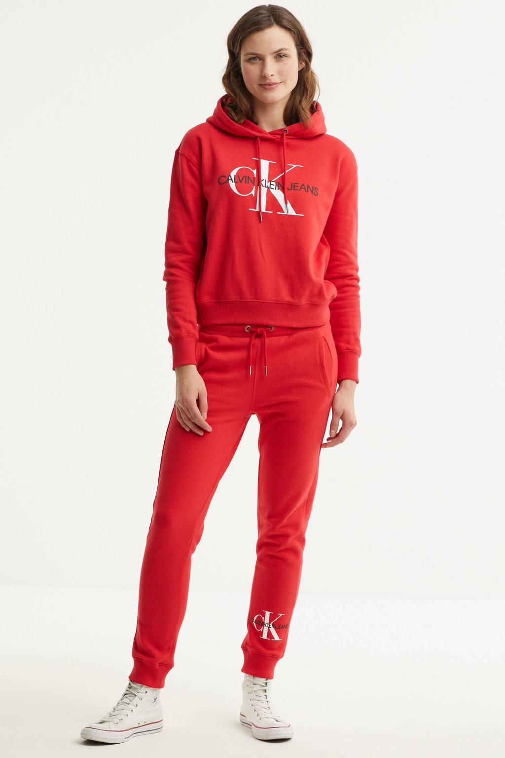 CALVIN KLEIN JEANS hoodie van biologisch katoen rood, Rood