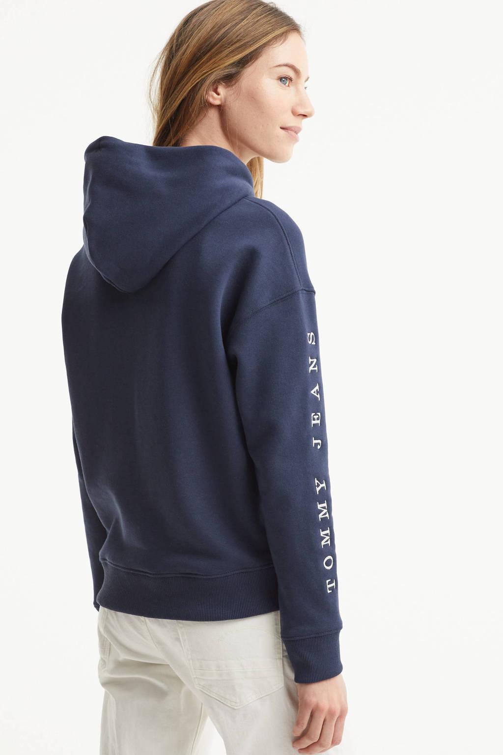Tommy Jeans hoodie met logo twilight navy, Twilight Navy