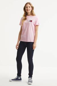 Tommy Jeans T-shirt van biologisch katoen roze, Roze