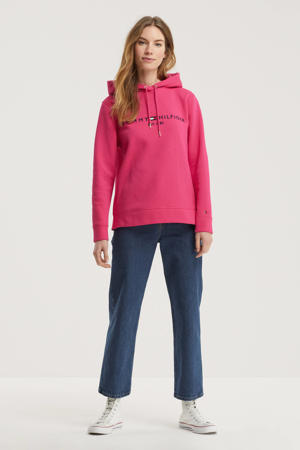 hoodie met logo fuchsia