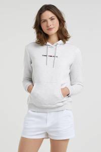 Tommy Jeans trui met biologisch katoen lichtgrijs, Lichtgrijs