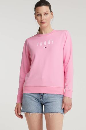 sweater van biologisch katoen donkerblauw/wit