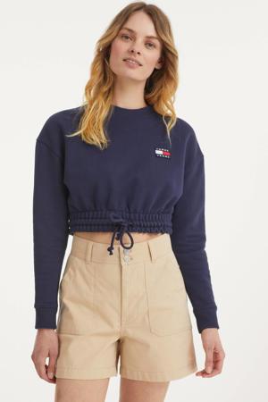 high waist short beige