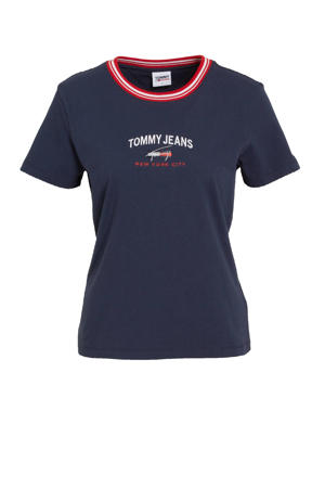 T-shirt van biologisch katoen marine