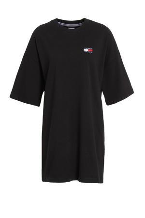 T-shirtjurk van biologisch katoen zwart