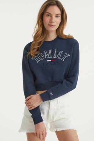 sweater met biologisch katoen donkerblauw