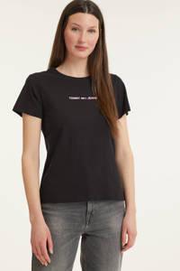 Tommy Jeans T-shirt met biologisch katoen zwart, Zwart