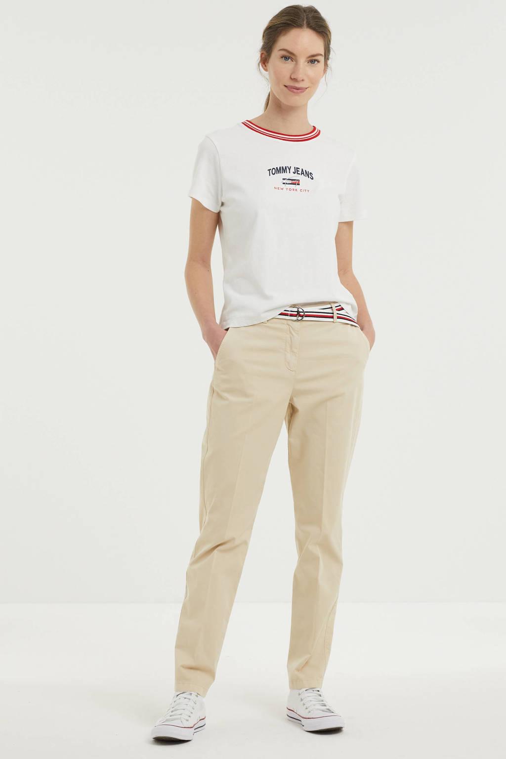 Tommy Jeans T-shirt van biologisch katoen wit, Wit