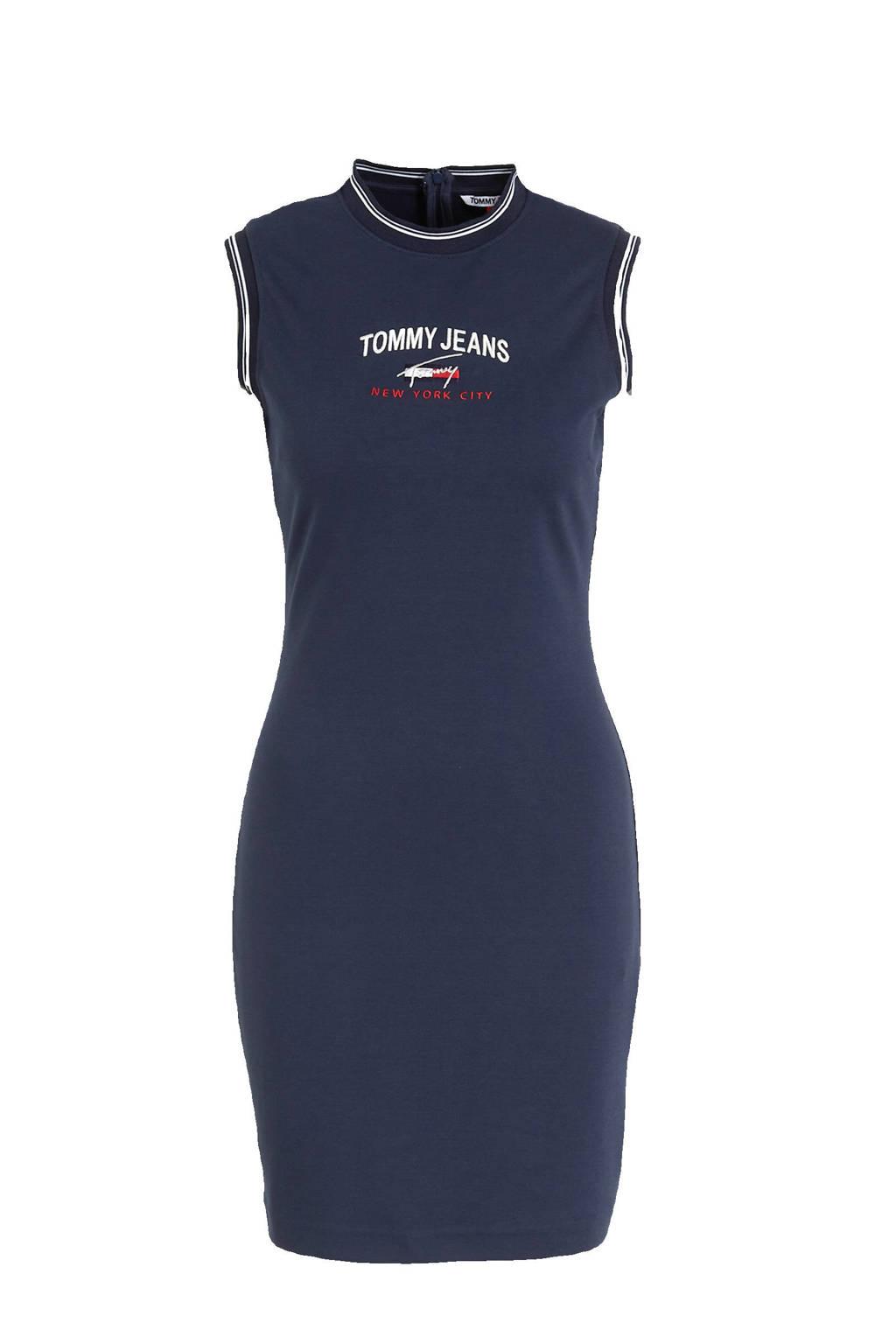 Tommy Jeans jurk met logo marine, Marine