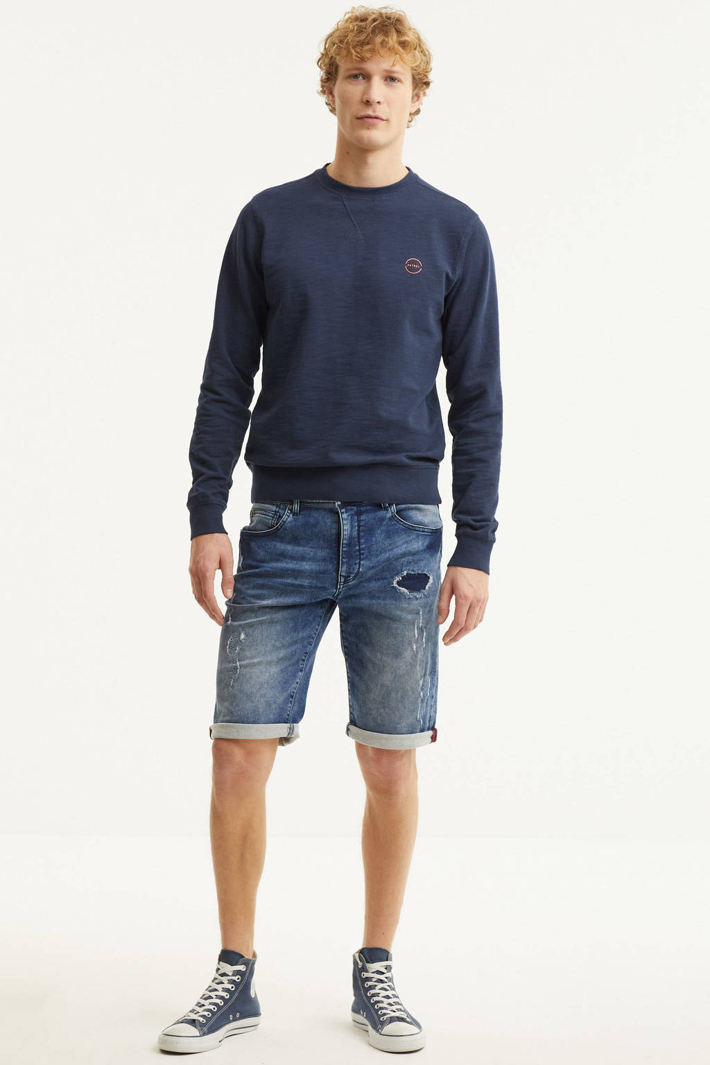 Petrol Industries regular fit jeans short stonewashed, Stonewashed