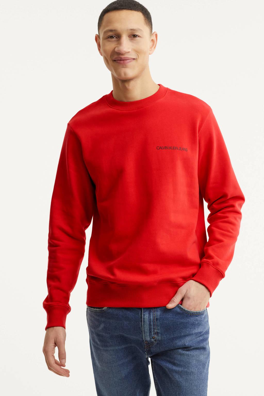 CALVIN KLEIN JEANS sweater met logo rood, Rood