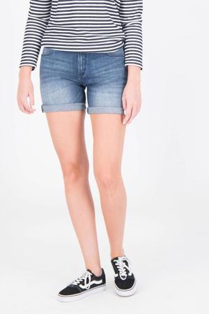 slim fit jeans short Rachel donkerblauw