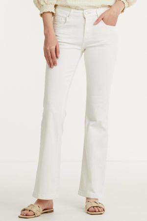 high waist flared jeans Jade 002 - white
