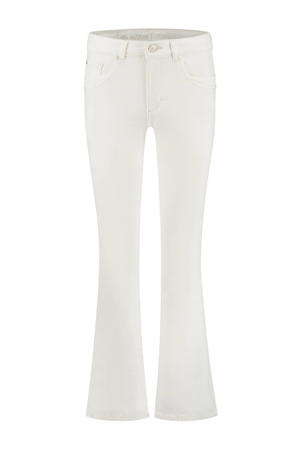 high waist flared jeans Jade 002 - white