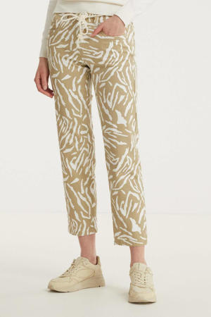 high waist boyfriend fit jeans Bobby met all over print 219 - faded camel