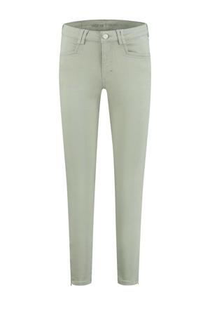 high waist skinny jeans Amber 614 - desert sage