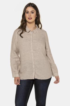 geweven blouse beige