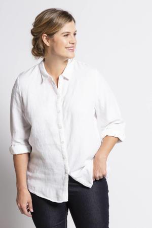 geweven blouse wit