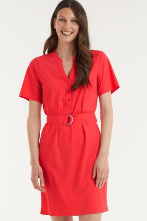 jurk met ceintuur rood