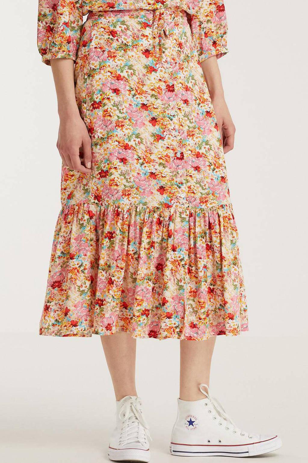 Esqualo gebloemde rok multicolor, Multicolor