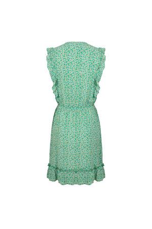 gebloemde jurk groen